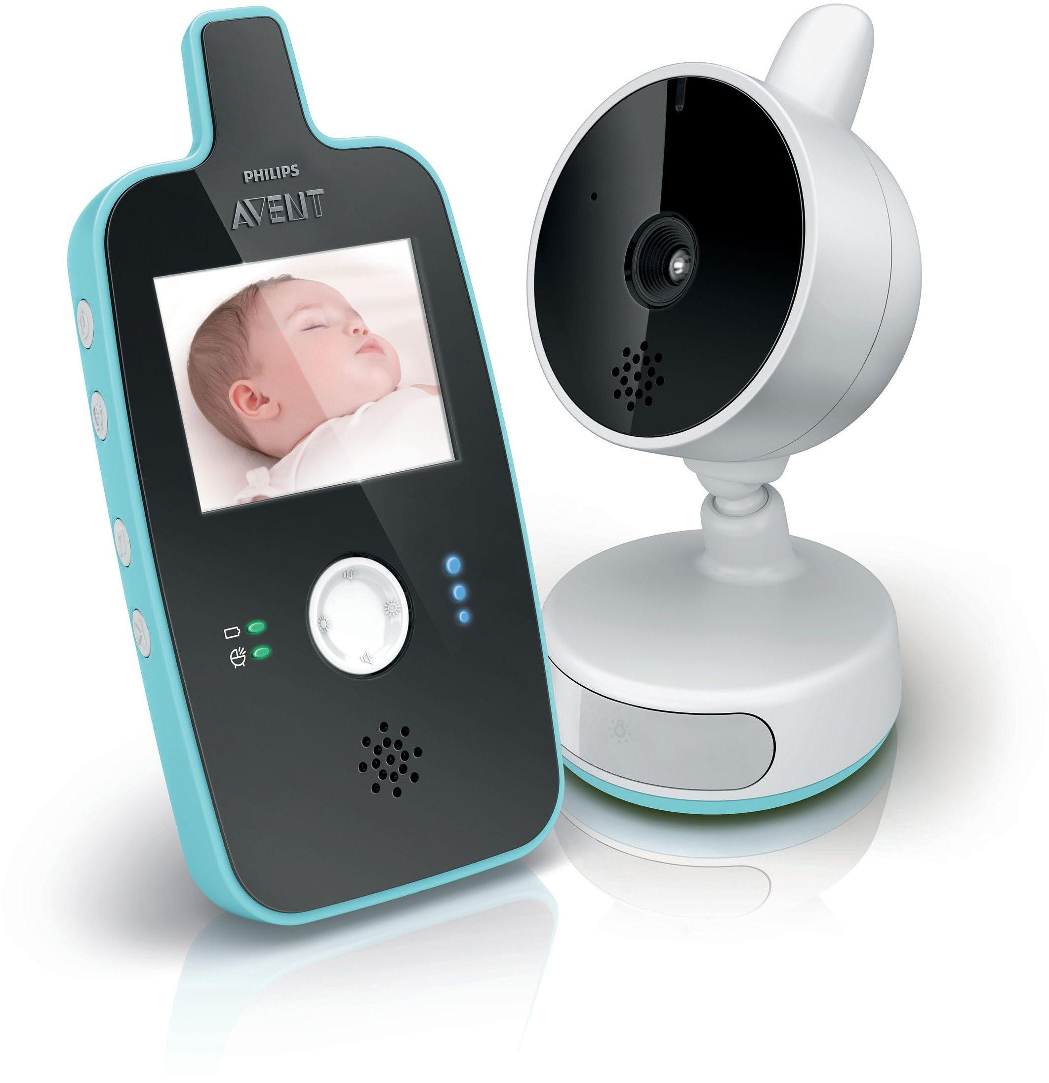 Philips Avent Digitales Babyphone SCD603/00 mit Videofunktion, weiß/schwarz