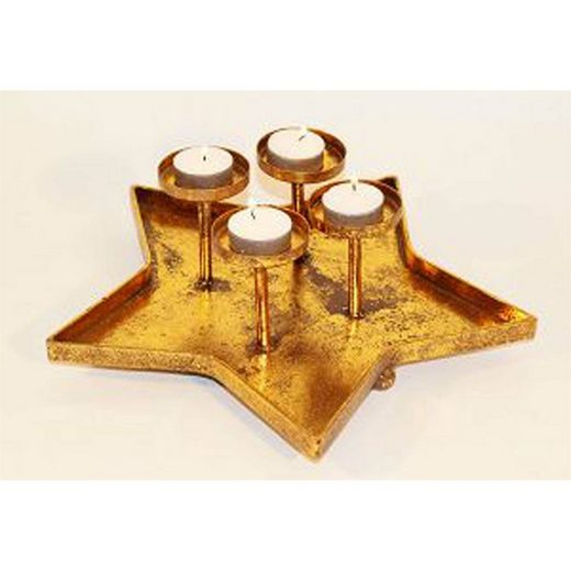 HTI-Living Teelichthalter »Teelichthalter Goldener Stern«