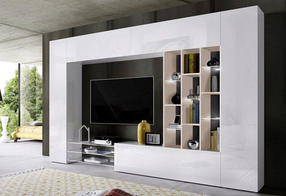 86 wohnzimmerschrank ohne tv fach tecnos wohnwand 6 for Wohnwand 6 tlg