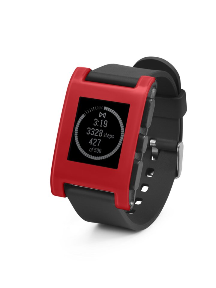 Pebble Smartwatch »Classic Smart Watch« in Rot
