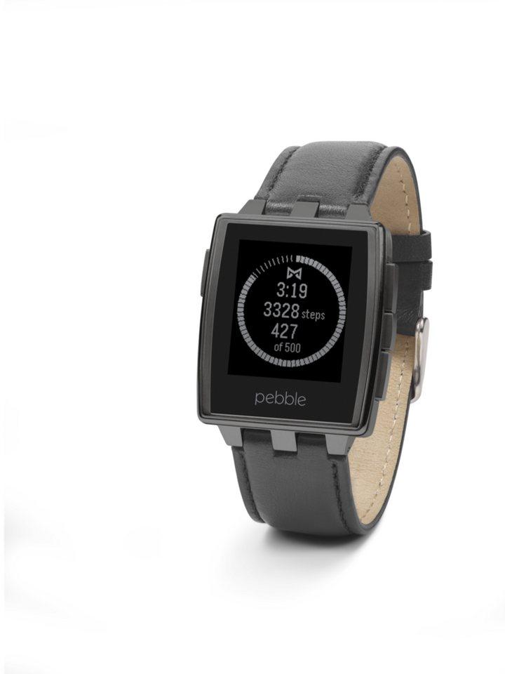 Pebble Smartwatch »Armbanduhr, Steel Matte Black« in Schwarz