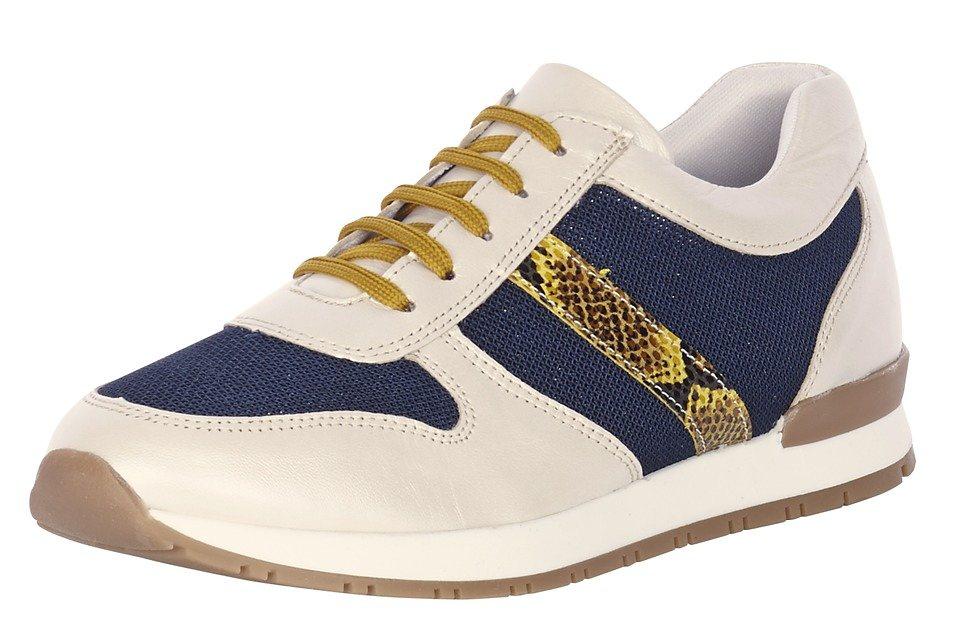 Sneaker in offwhite/jeansblau