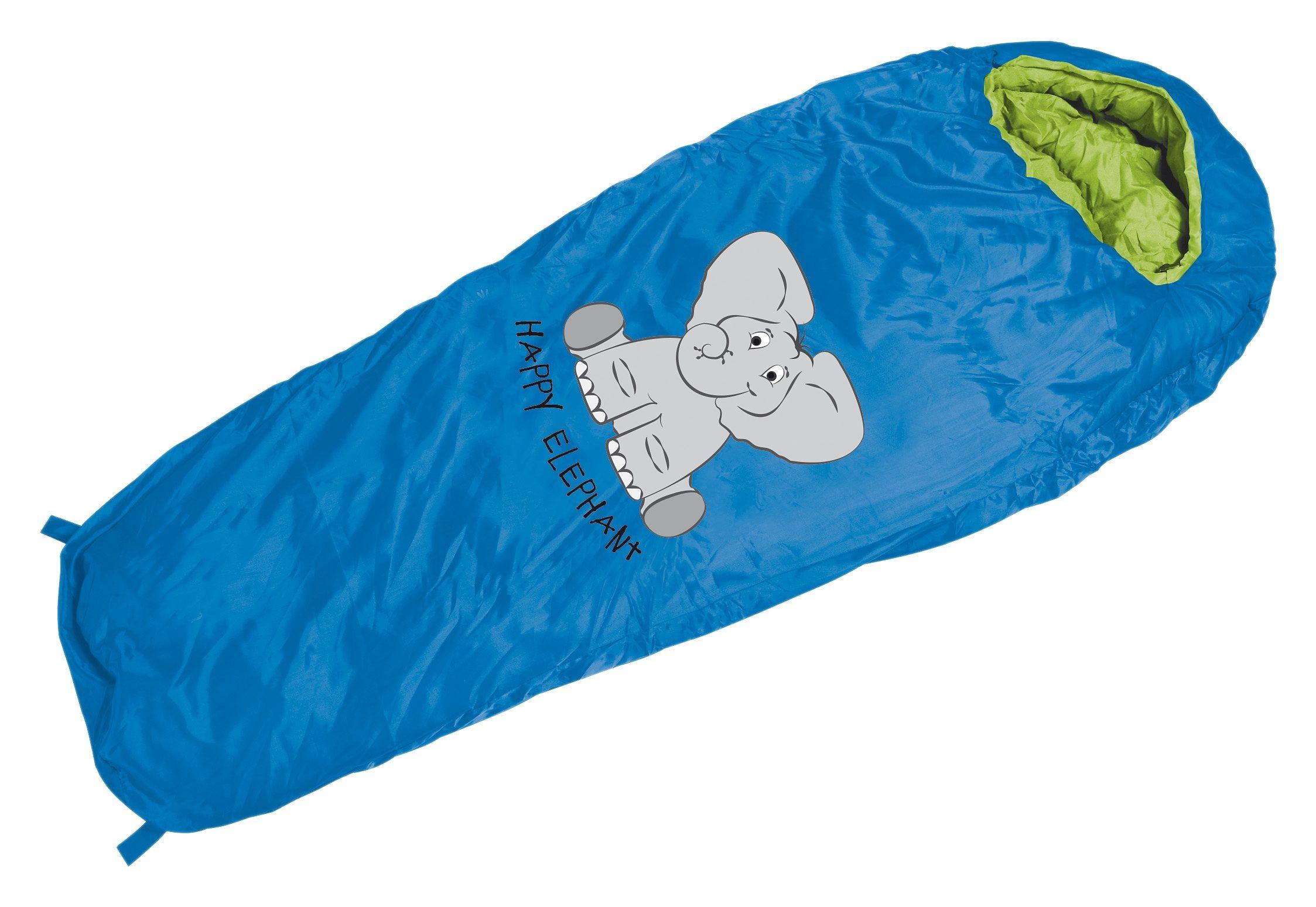 Royalbeach® Schlafsack für Kinder in blau mit Aufdruck, »Happy Elefant«
