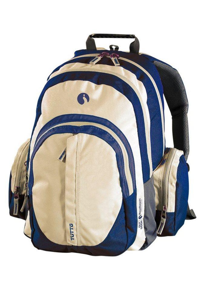 Royalbeach® Rucksack mit Mesh-Rückenauflage »Tutto 23«. in beige-blau