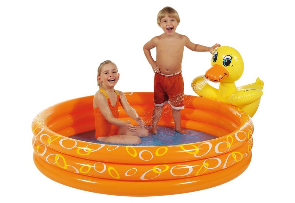 Royalbeach® Planschbecken mit Splash-Funktion, »Ente« in orange