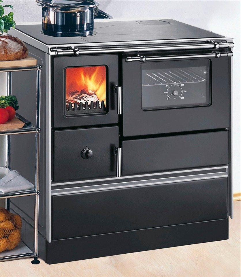 Festbrennstoffherd »K 176 F/A«, Stahl, schwarz, Dauerbrand in schwarz