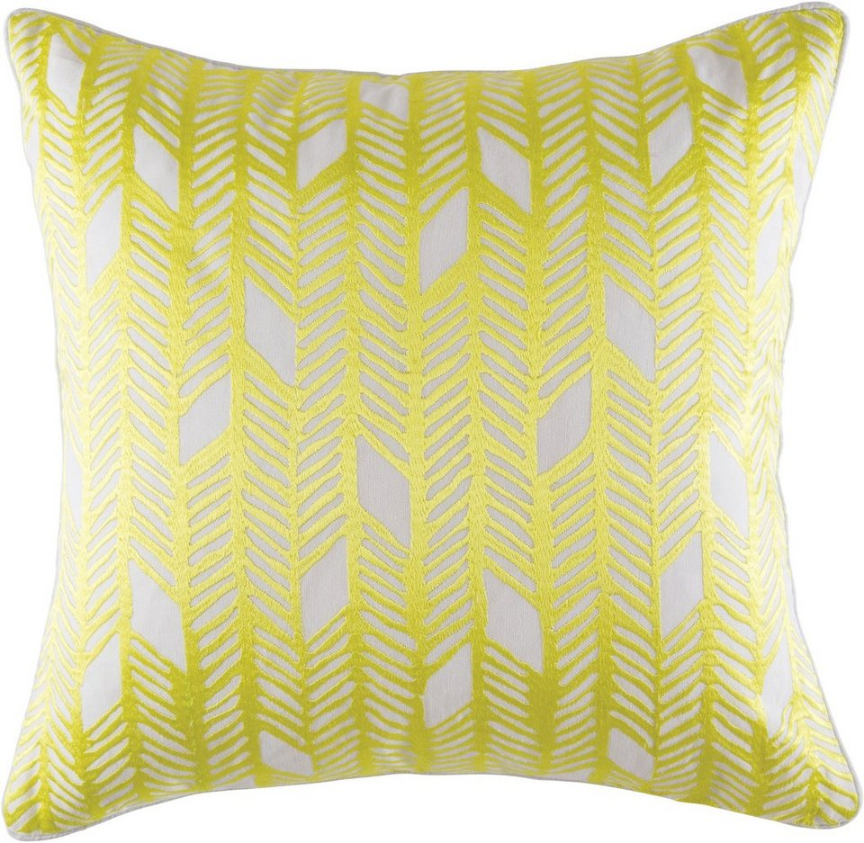 Dekokissen, KAS, »Zia«, grafisches Muster in gelb