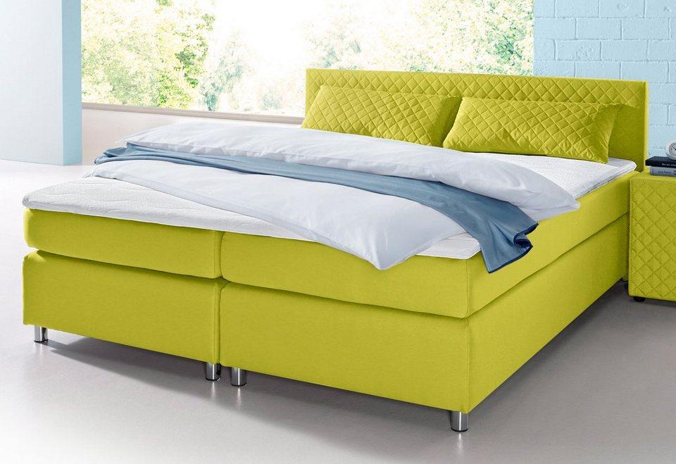 boxspringbett inkl topper und kissen kaufen otto. Black Bedroom Furniture Sets. Home Design Ideas