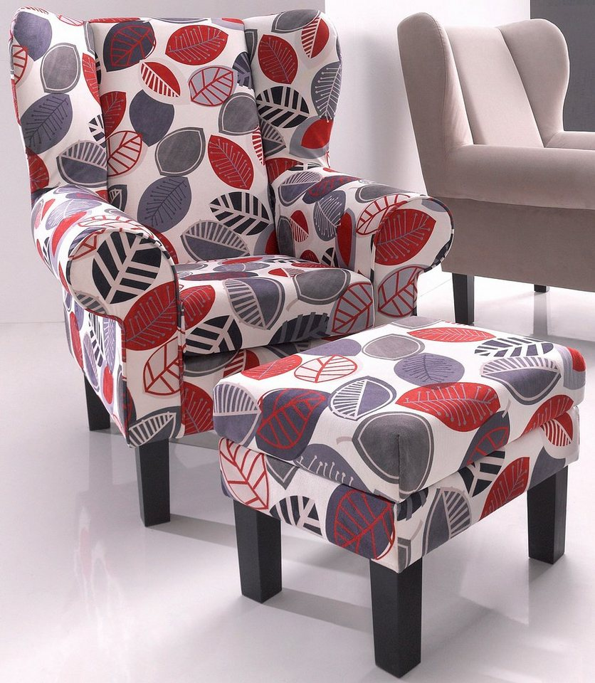 Ohrensessel Bunt Mit Hocker : ohrensessel atlantic home collection mit hocker otto ~ Bigdaddyawards.com Haus und Dekorationen