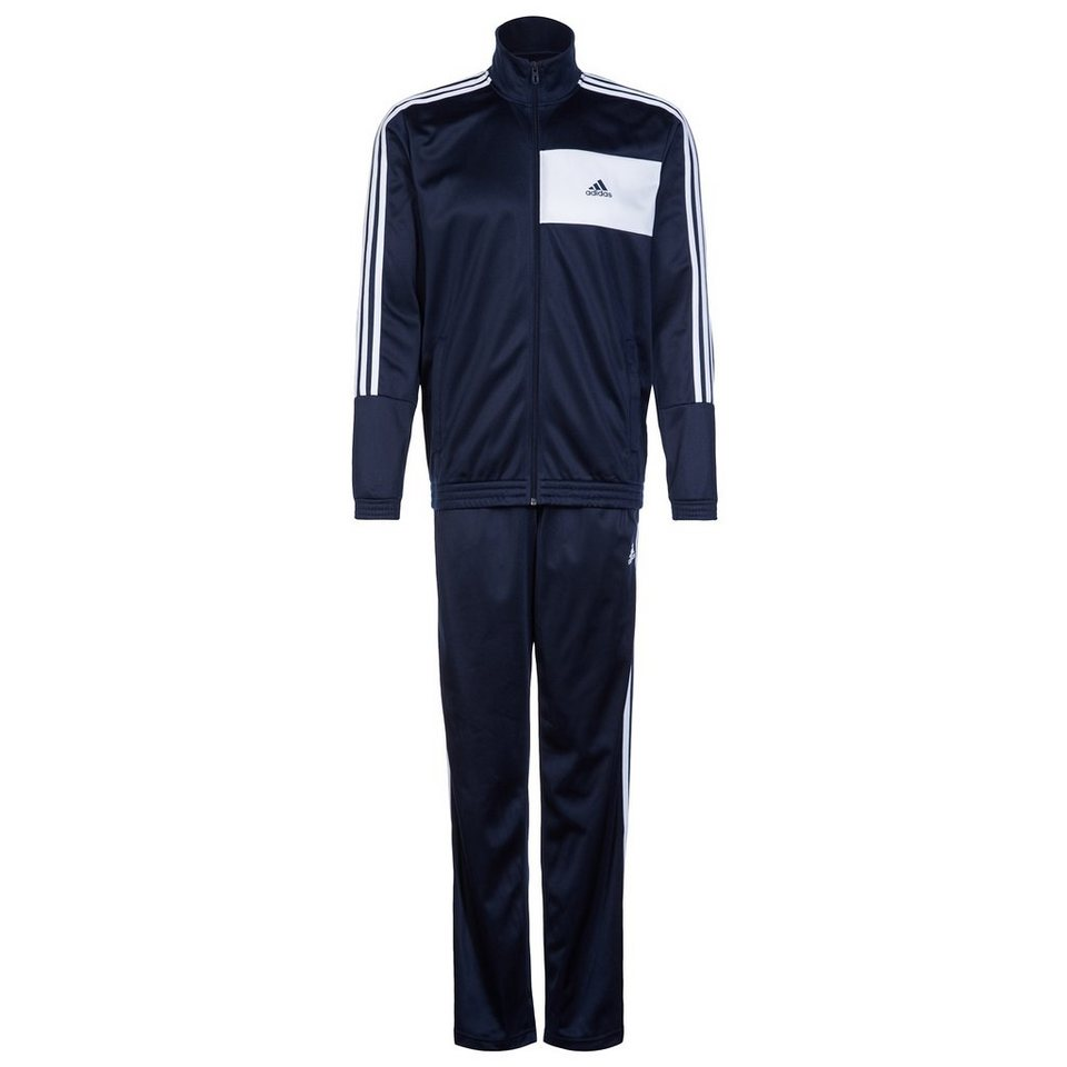 adidas Performance Set: Entry Knit Trainingsanzug Herren (Packung, 2 tlg.) in blau / weiß