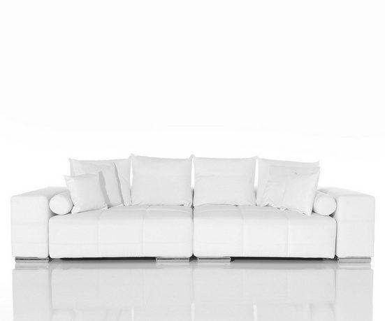 DELIFE Couch Marbeya Weiss 285x115 cm Big-Sofa