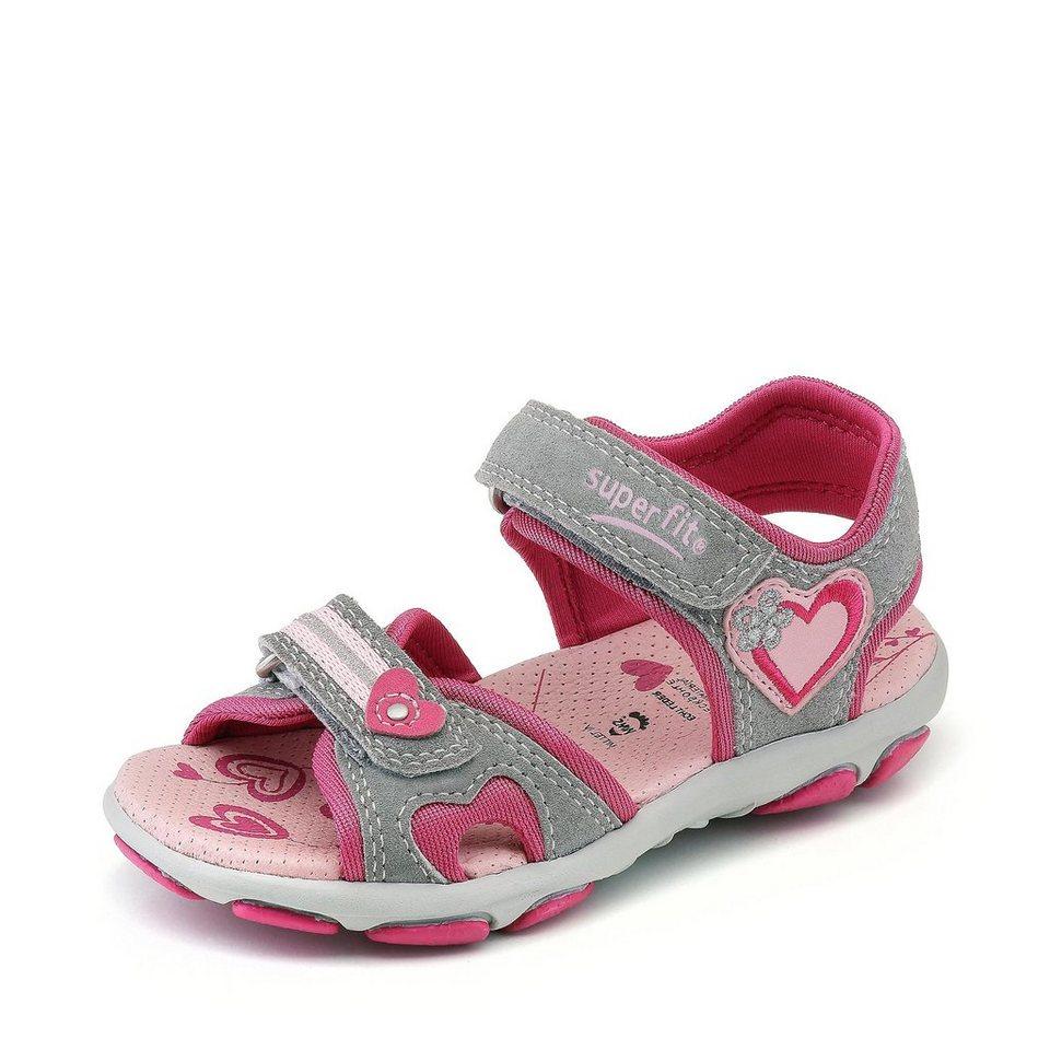Superfit Sandale in grau/pink