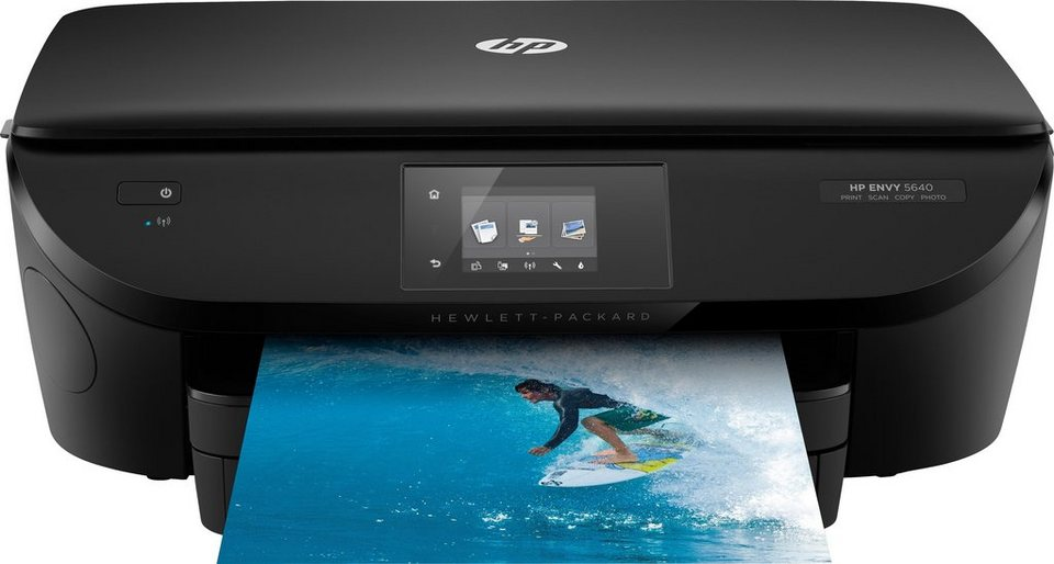HP Envy 5640e Multifunktionsdrucker in schwarz