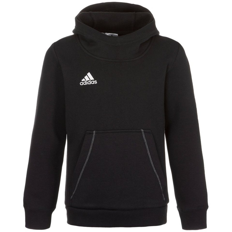 adidas Performance Core 15 Trainingskapuzenpullover Kinder in schwarz / weiß