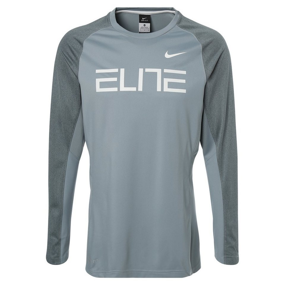 NIKE Elite Fearless Trainingsshirt Herren in grau / weiß