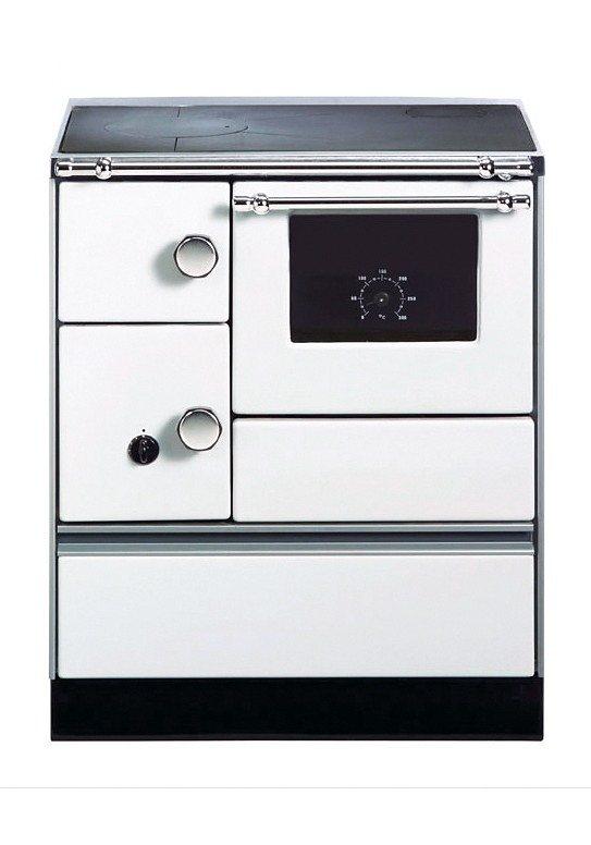 Festbrennstoffherd »K 176«, weiß, 5 kW, Dauerbrand in weiß