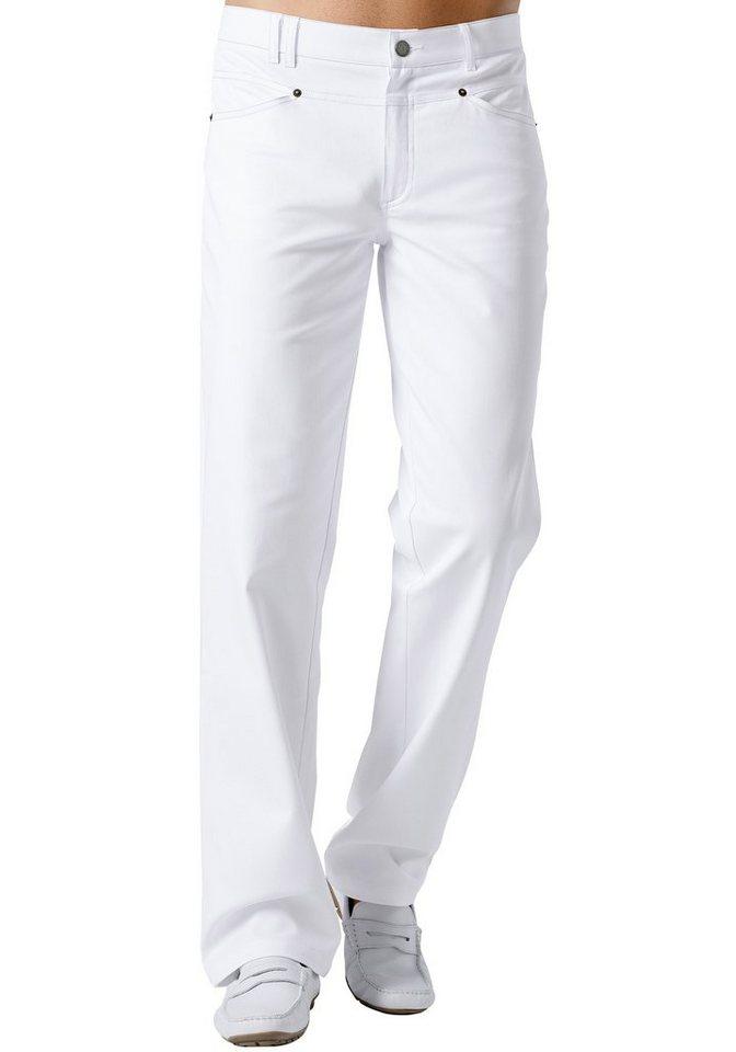 Herrenhose, regular fit in weiß