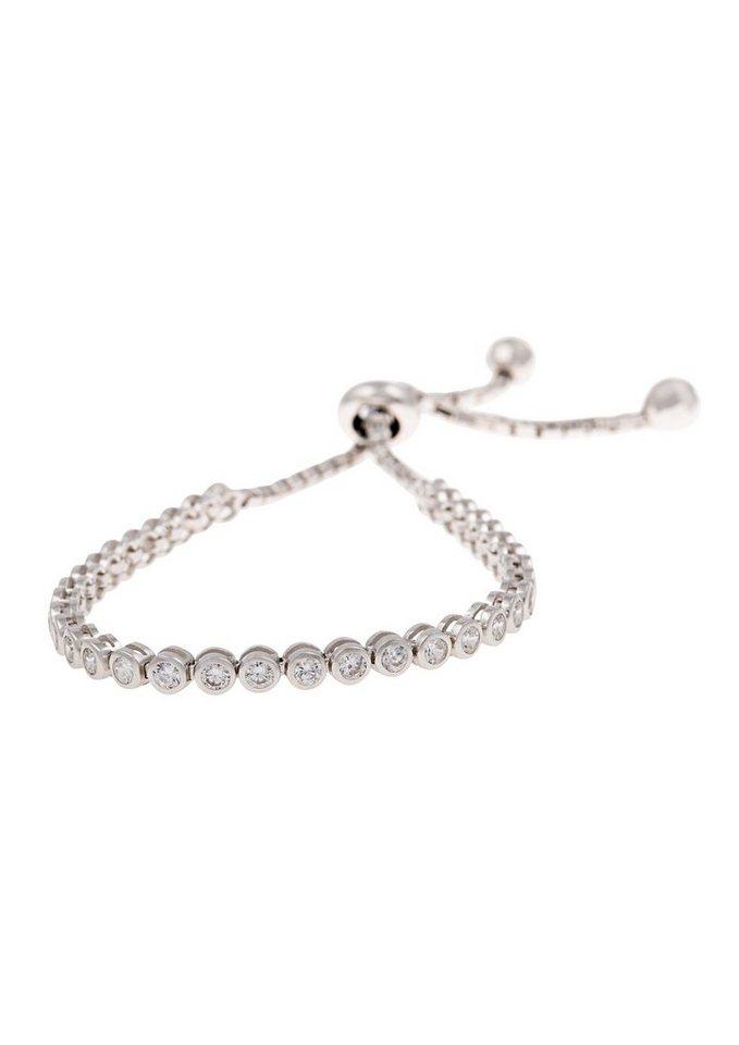 firetti Armschmuck: Armband mit Zirkonia, größenverstellbarer Schiebeverschluß in Silber 925