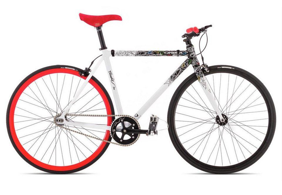 Herren Singlespeed Fahrrad, 28 Zoll, »Dude 20«, ORBEA in weiß-rot