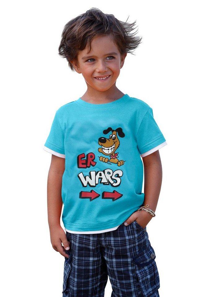 "CFL T-Shirt ""Er war's"" in türkis"