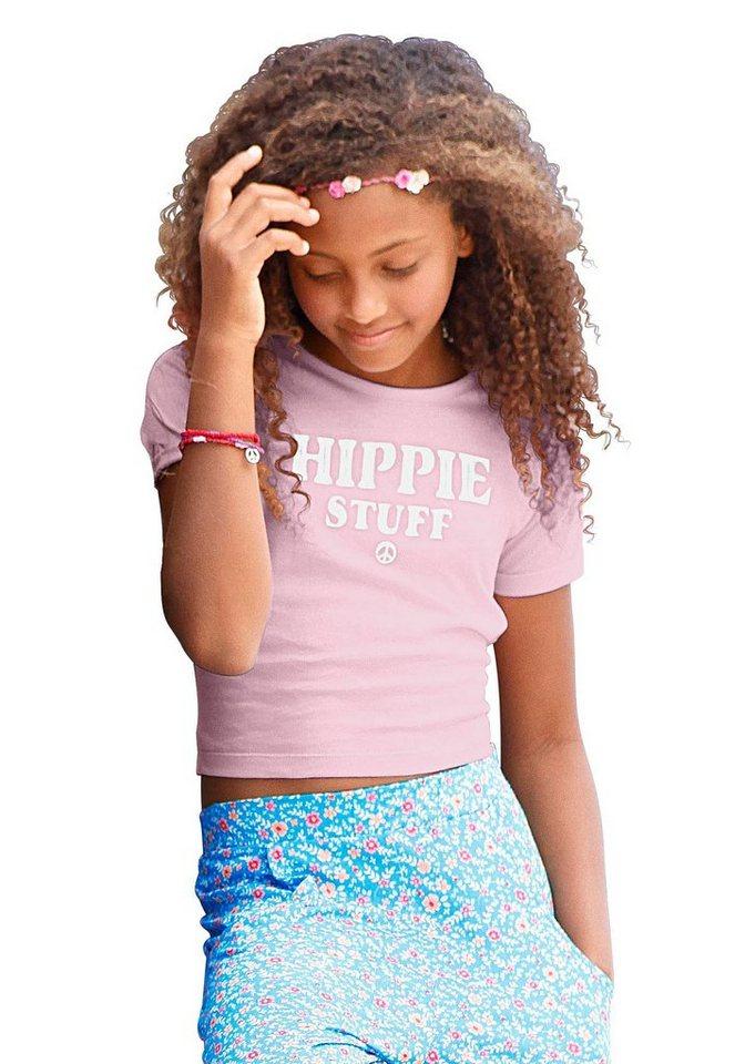 Arizona T-Shirt Kurzform, für Mädchen in Rosa