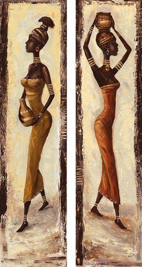 Home affaire Kunstdruck »A. S.: African woman I + II«, (Set), 2x 19/74 cm