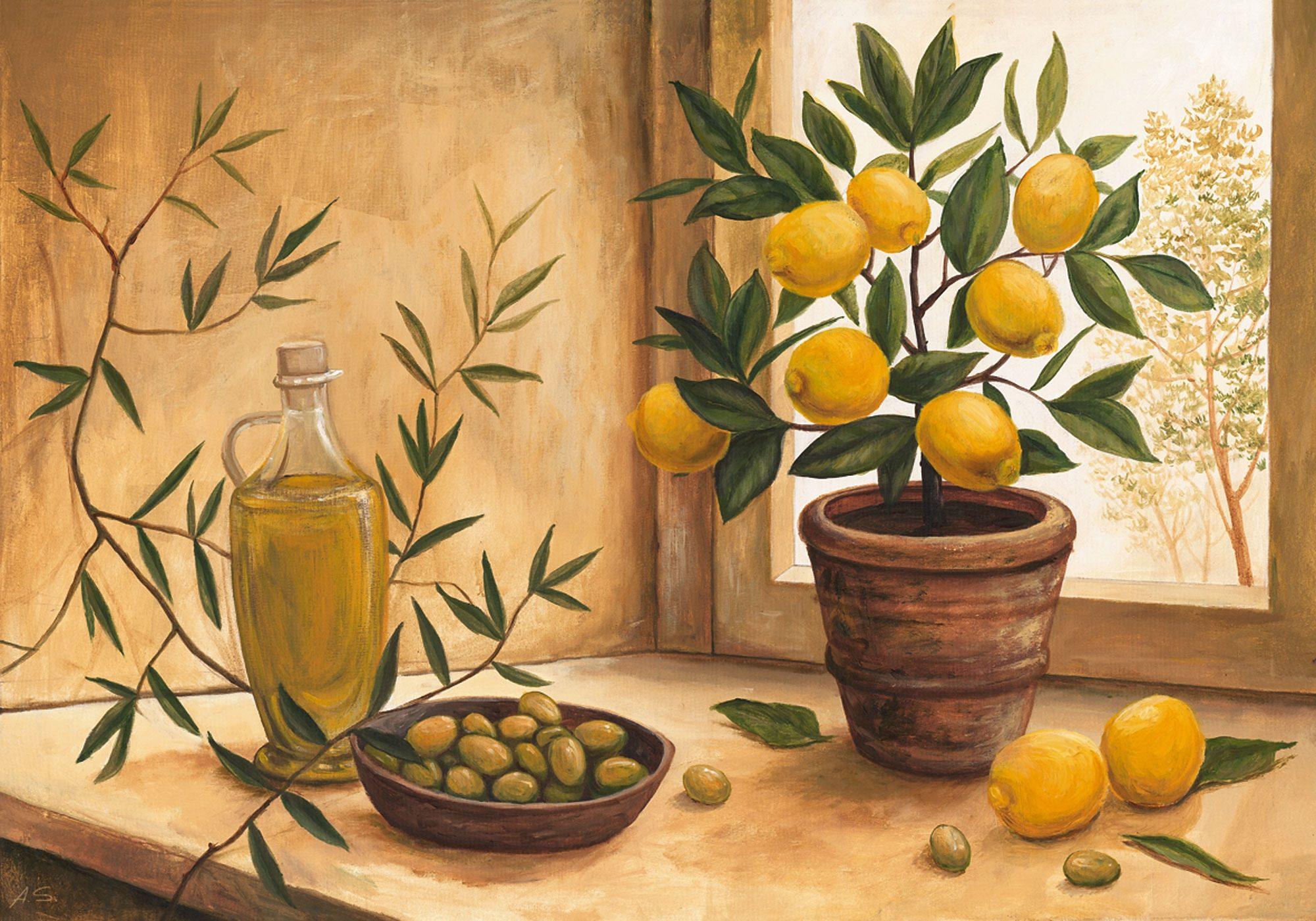 Bild, Kunstdruck, Home affaire, »A. S.: Olive and lime«, 99/69 cm