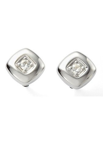 Paar Ohrstecker, »Sterling Classics, JF14511040«, Fossil in Silber 925