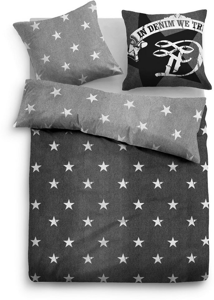 wendebettw sche tom tailor star mit sternen otto. Black Bedroom Furniture Sets. Home Design Ideas