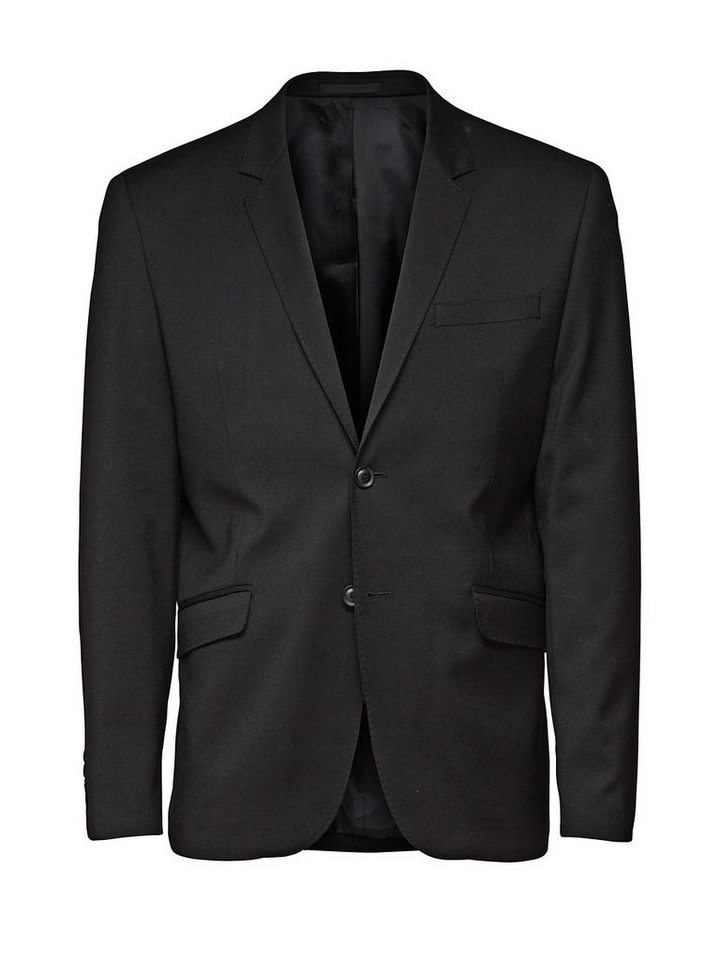 Jack & Jones Wool Blend Blazer in Black