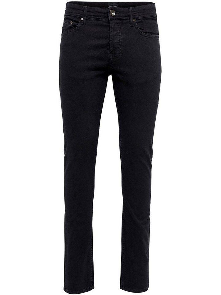 ONLY & SONS Avi black Slim Fit Jeans in Black Denim