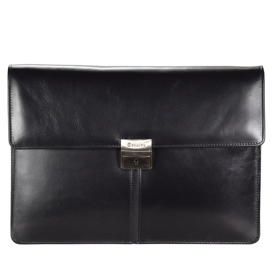 Esquire Brisbane Aktentasche Leder 35 cm in black