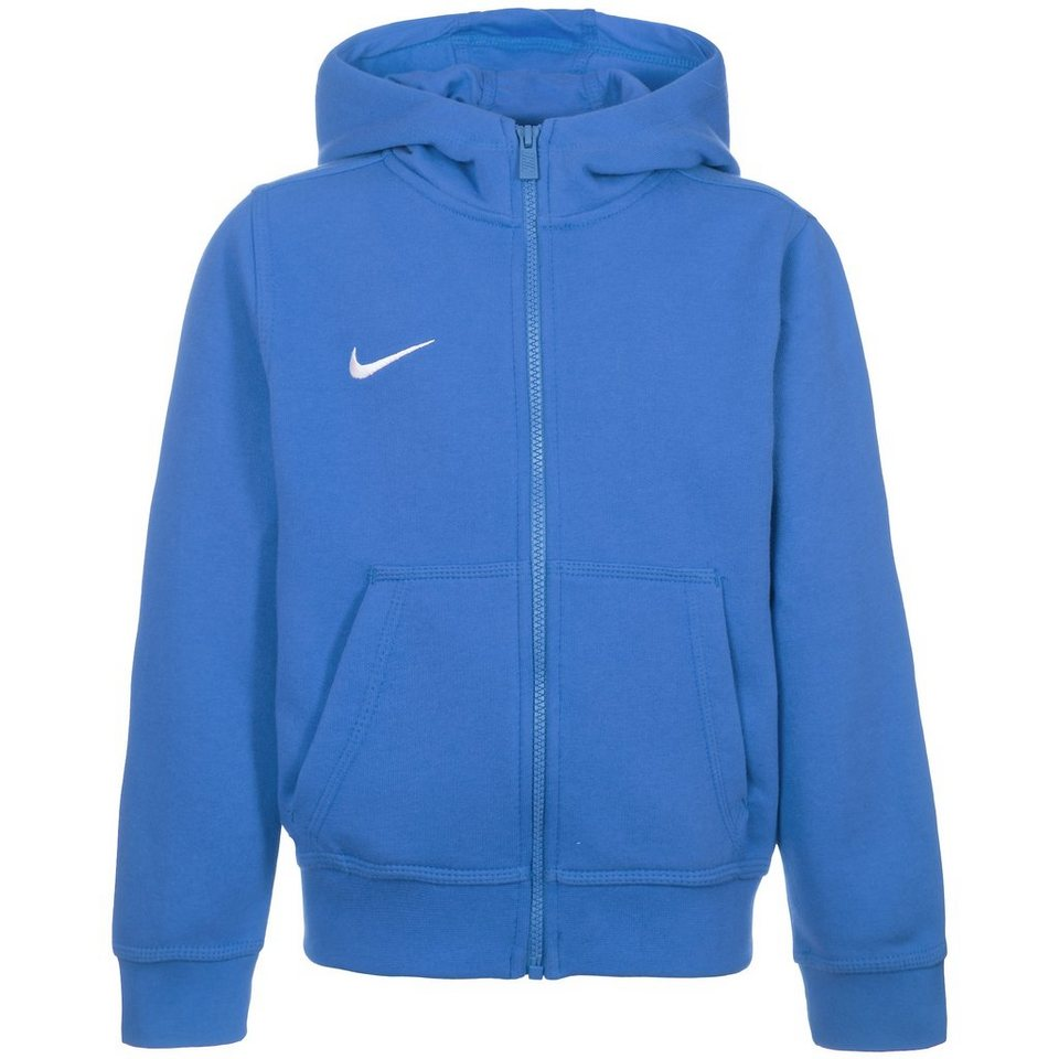 NIKE Team Club Trainingskapuzenjacke Kinder in blau / weiß