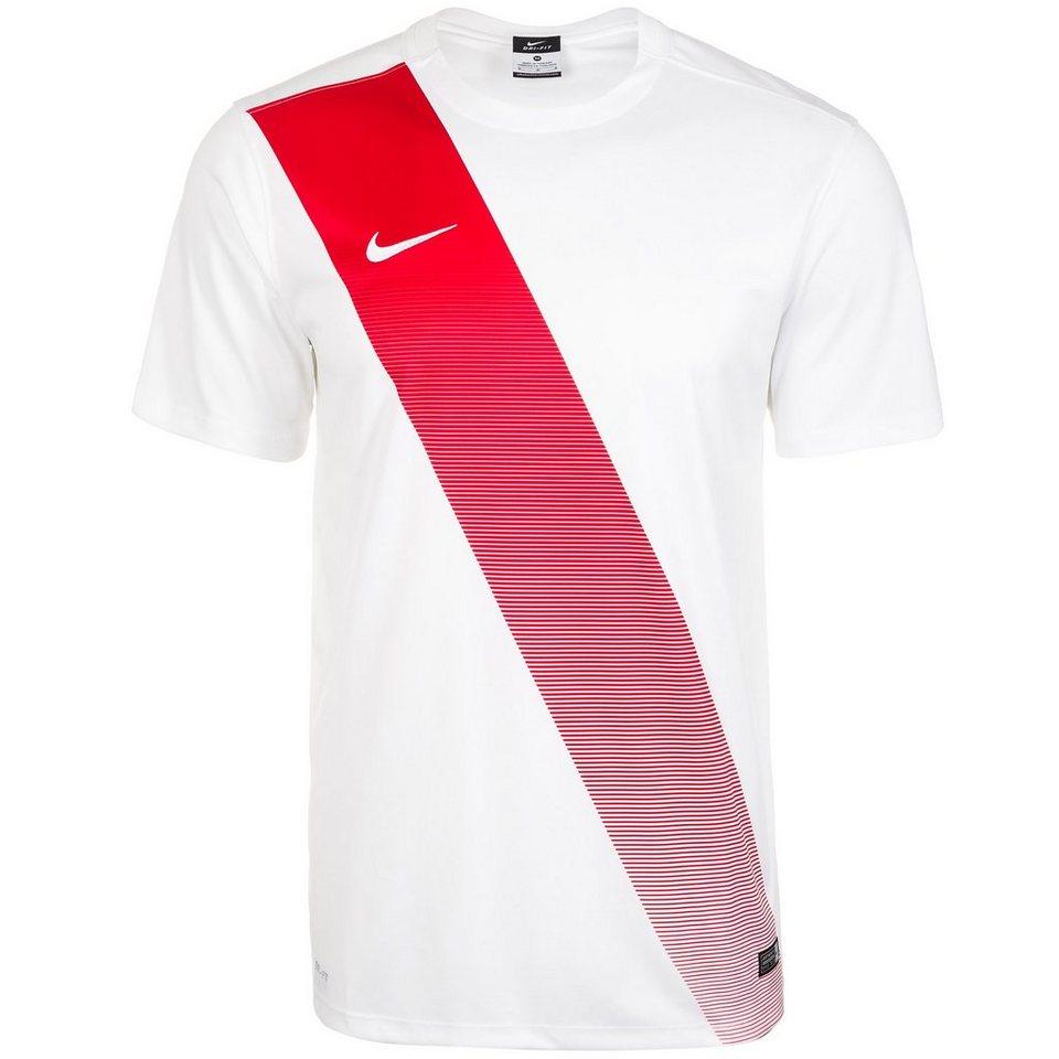 NIKE Sash Fußballtrikot Herren in weiß / rot