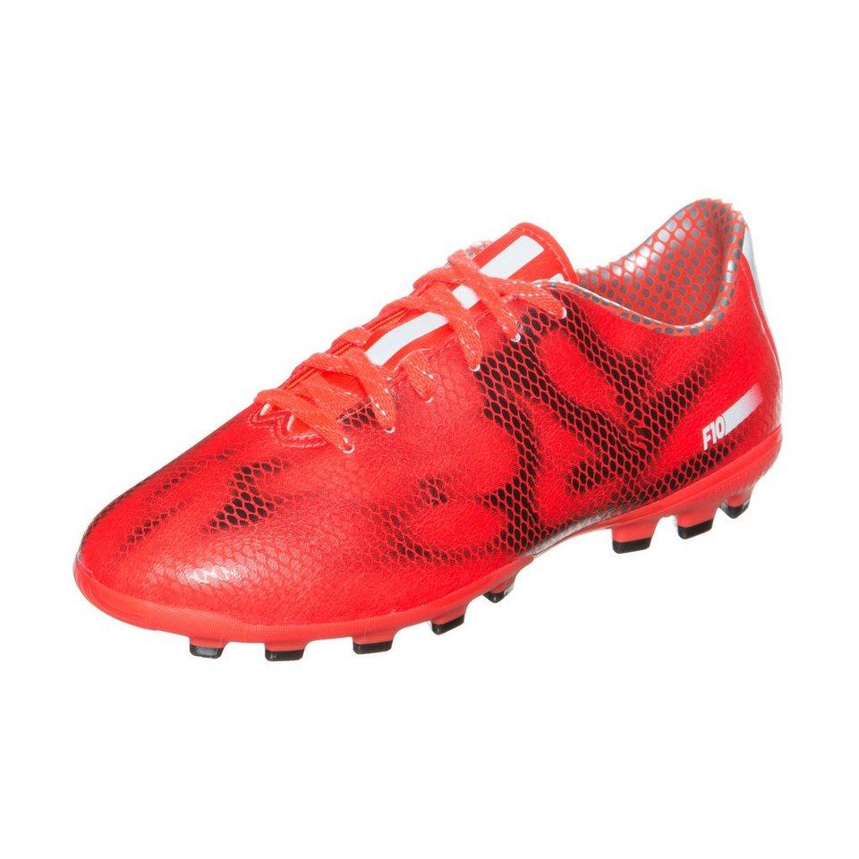 adidas Performance F10 TRX AG Fußballschuh Kinder in rot / schwarz
