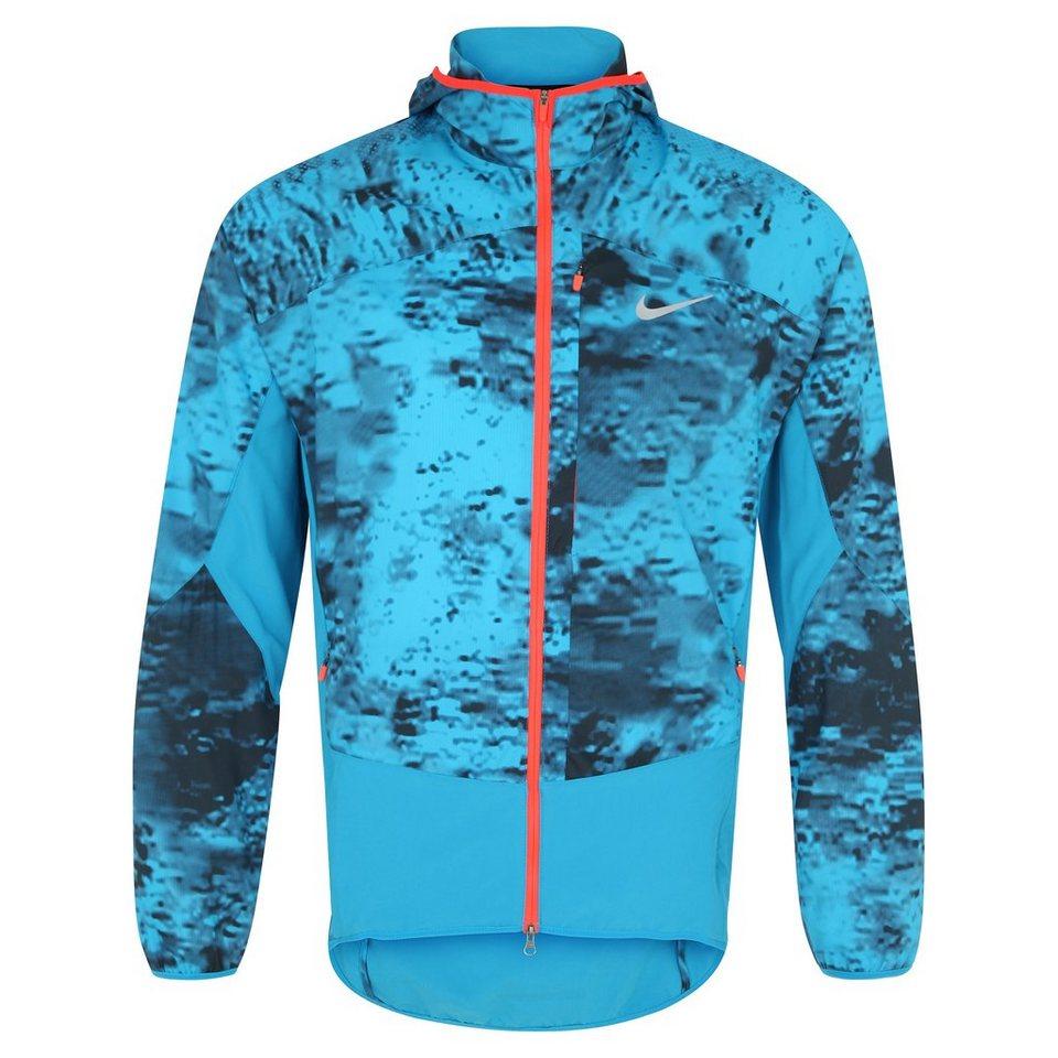 NIKE Printed Trail Kiger Laufjacke Herren in blau / rot