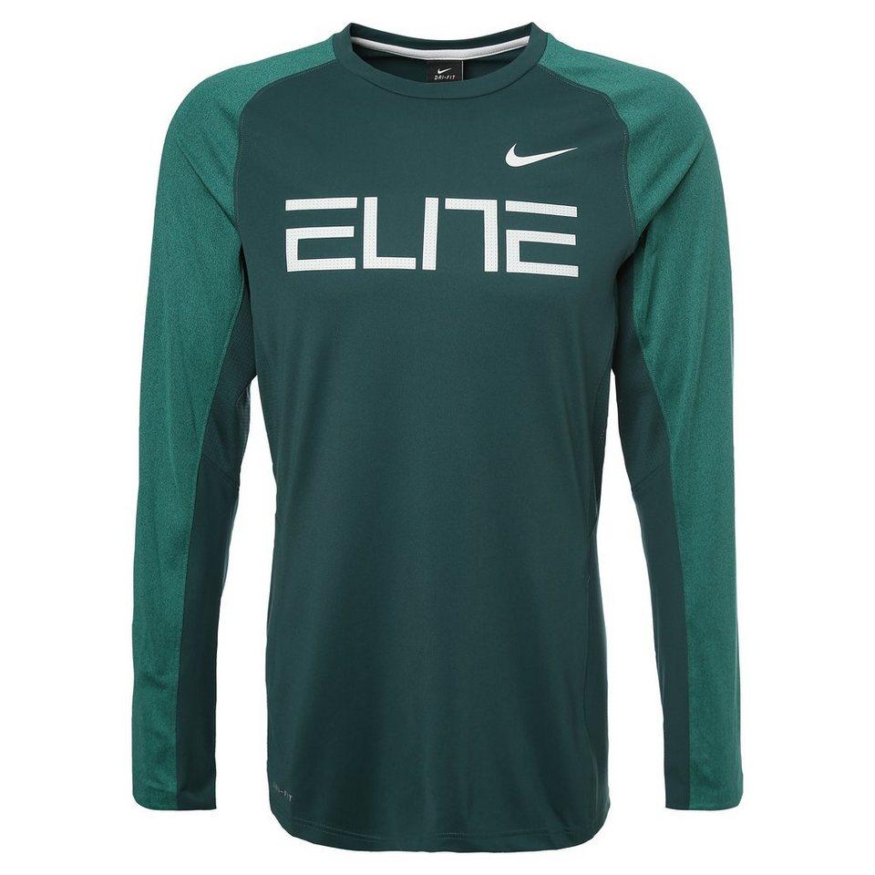 NIKE Elite Fearless Trainingsshirt Herren in grün / weiß