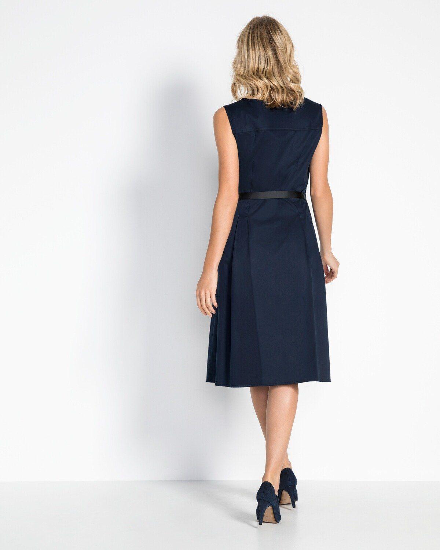 White Label Kleid mit Gürtel, Kurze, verdeckte Knopfleiste