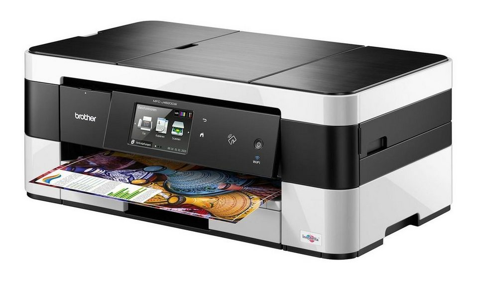 Brother Tintenstrahl-Multifunktionsdrucker »MFC-J4620DW 4in1 Multifunktionsdrucker« in Schwarz