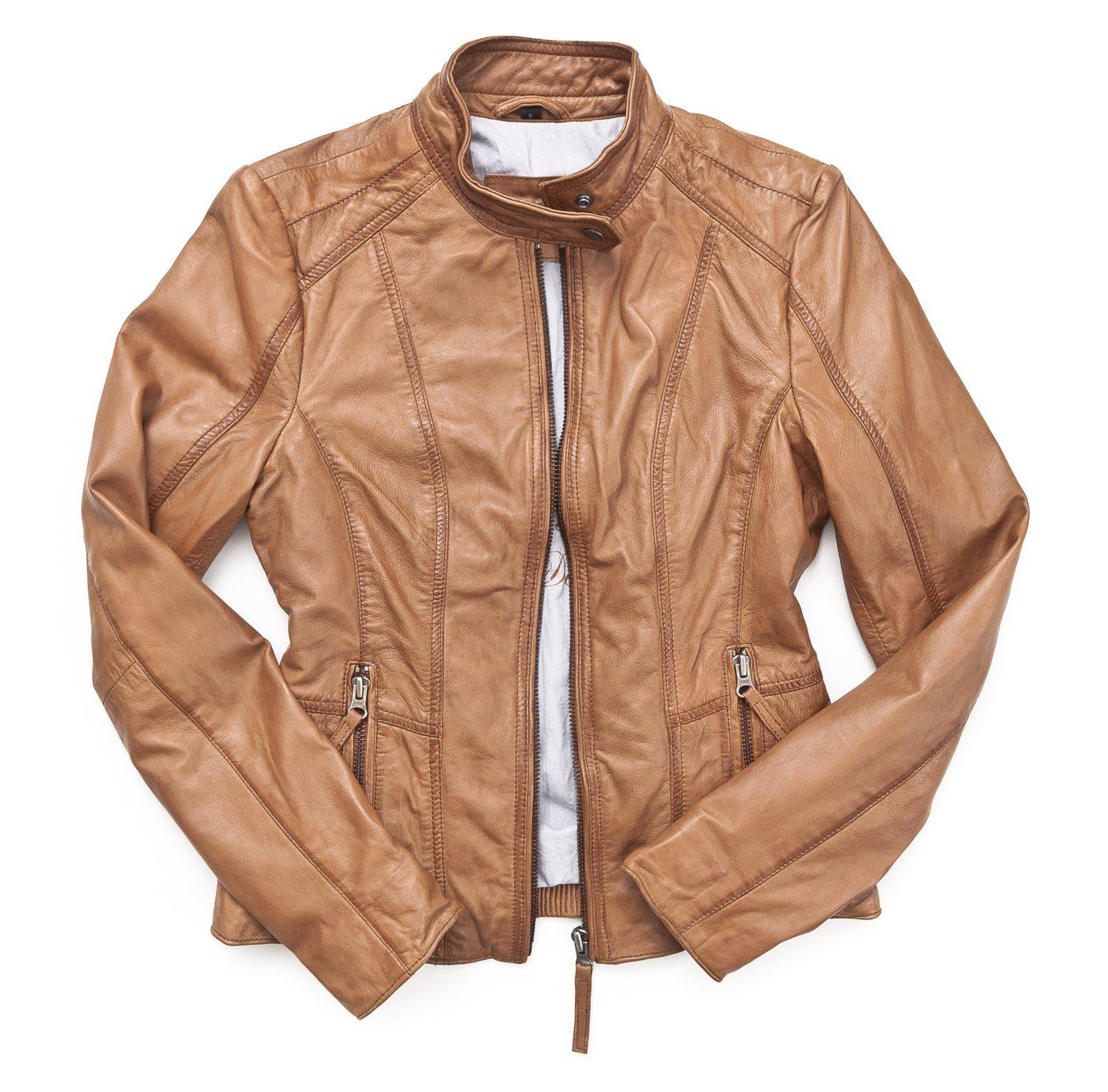 Mustang Lederjacke, Damen »Sanibel«, Schlicht und Elegant online kaufen | OTTO