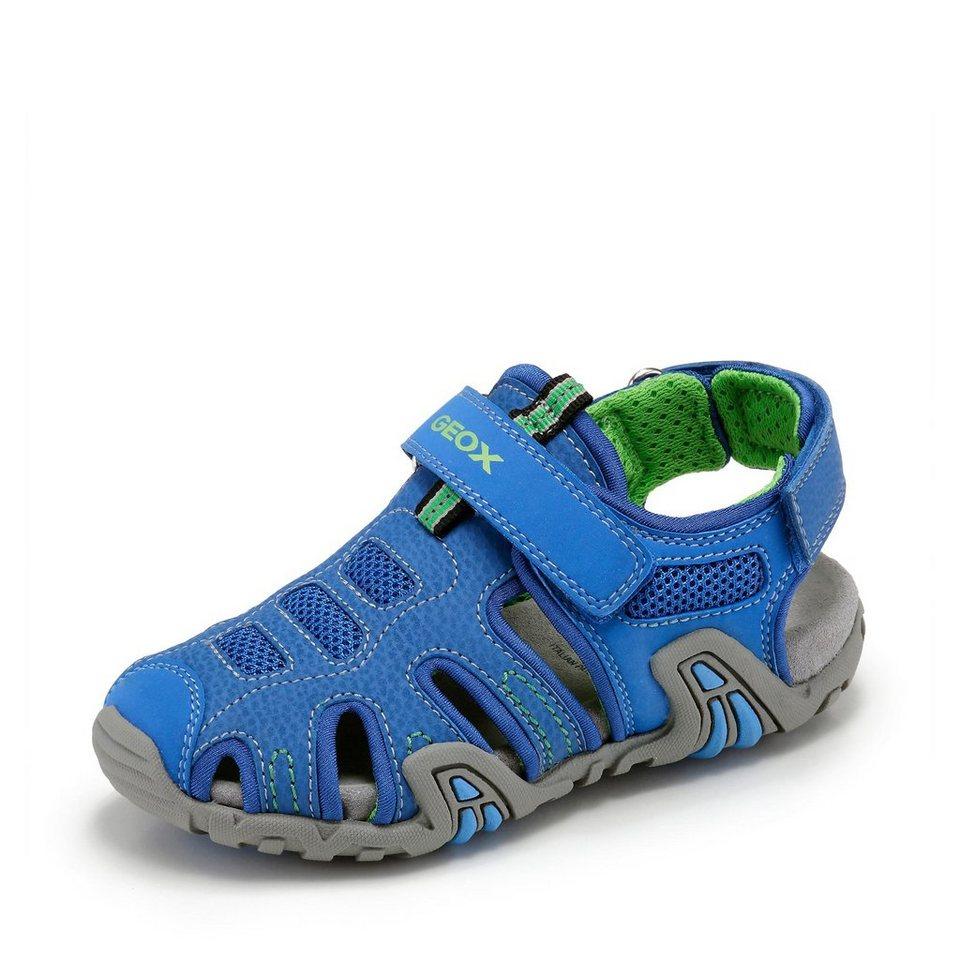 Geox Kraze Sandale in royalblau/neongrün