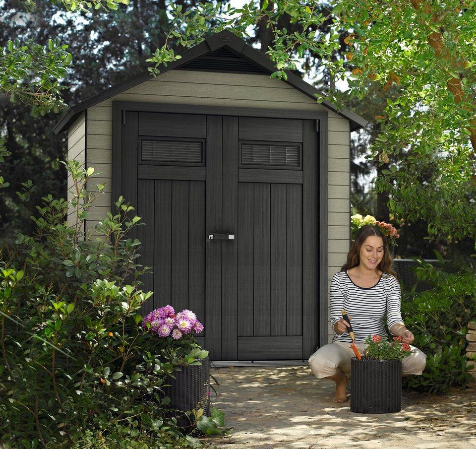 WOLFF Gartenhaus »Fusion 759«, BxT: 206x269 cm, 20 mm, in 2 Farben in grau/schwarz