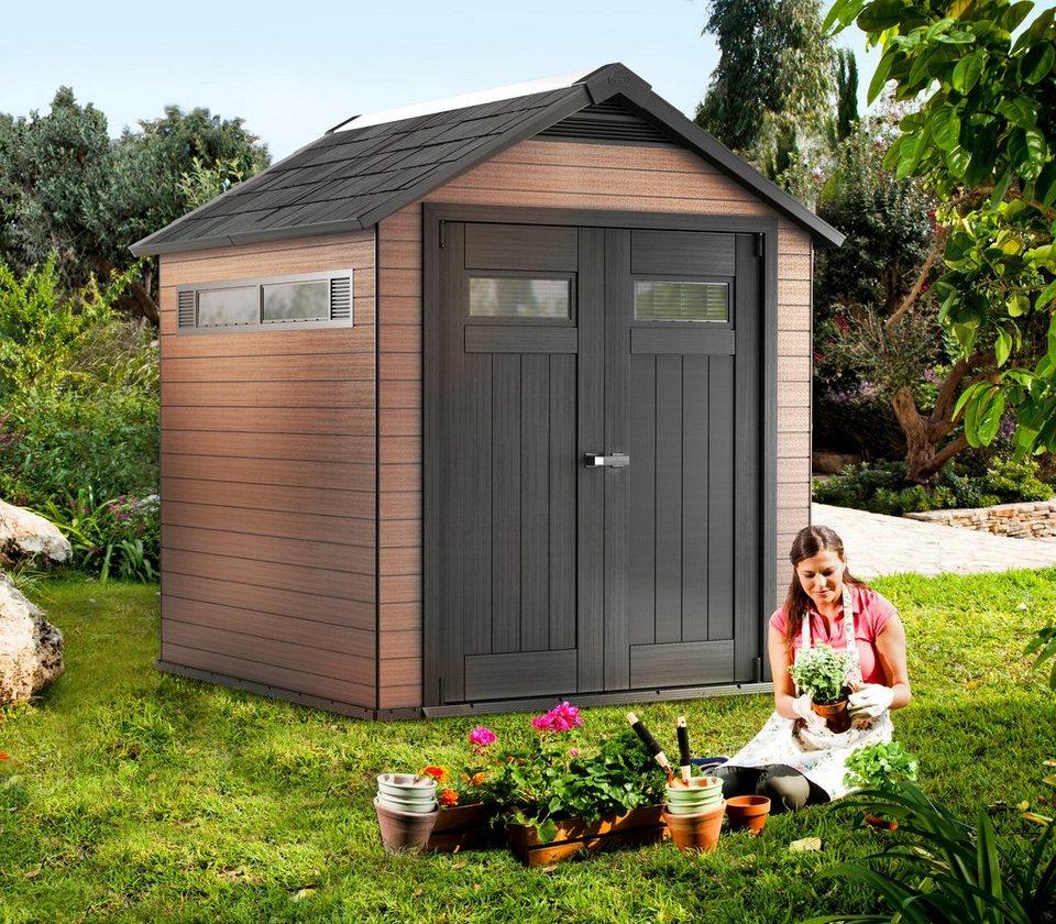 Gartenhaus »WPC Haus Fusion 757«, BxT: 206x206 cm in braun/schwarz