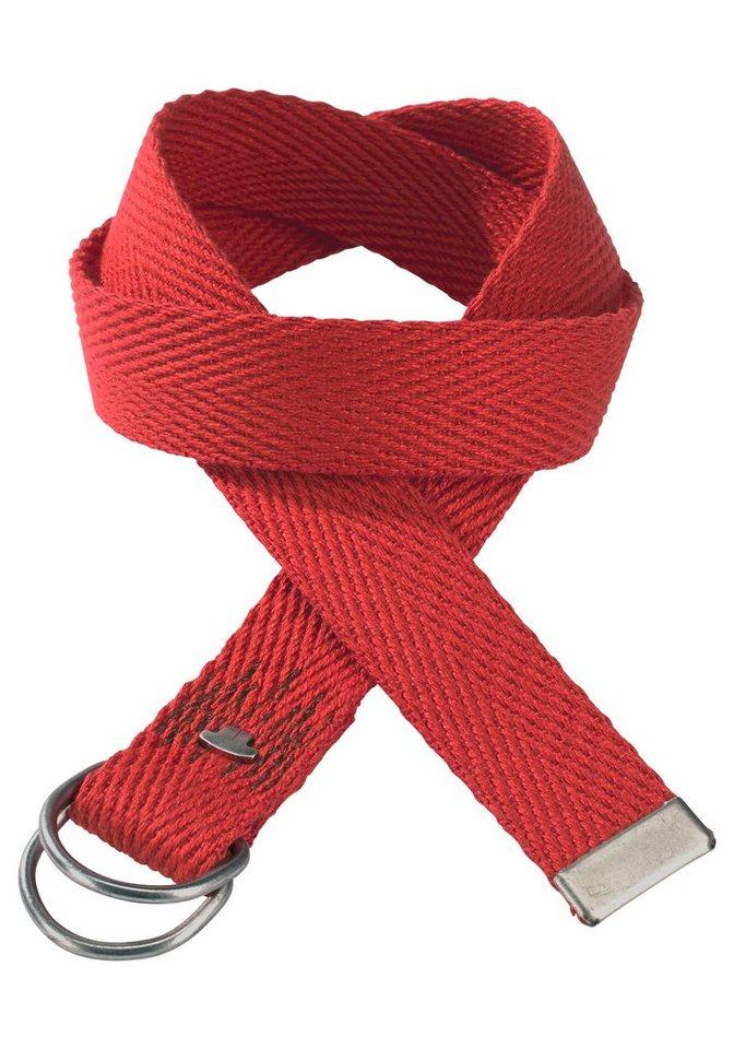 Tom Tailor Bandgürtel »mit Kofferschließe« in rot