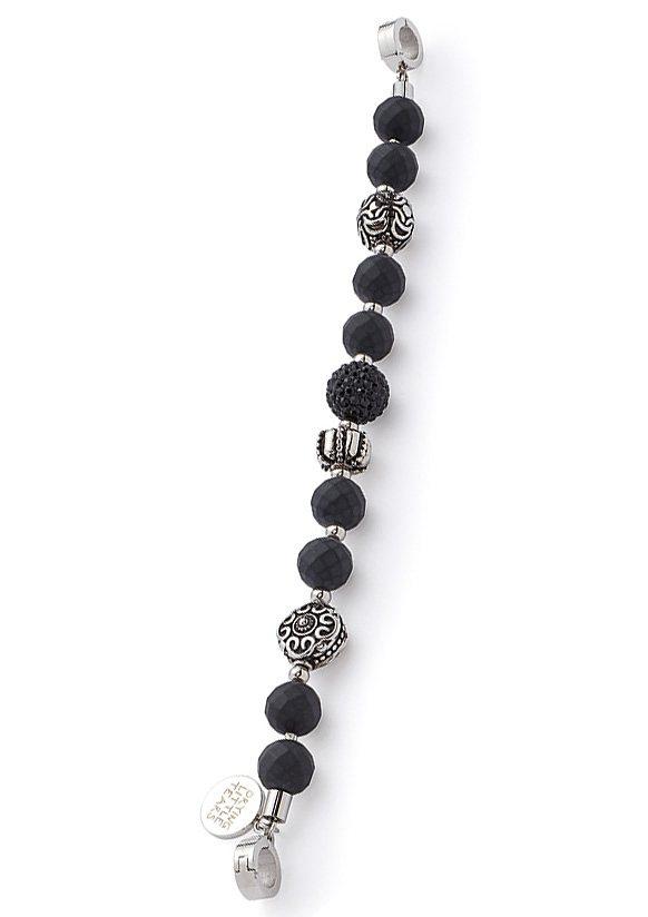 Armband, »darlin's charisma, 015527«, Jewels by Leonardo in silberfarben/schwarz