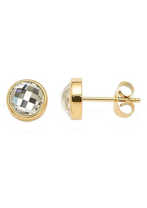 Paar Ohrstecker, »joy gold, 015478«, Jewels by Leonardo in goldfarben/weiß