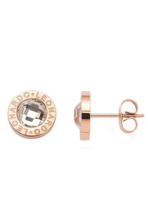 Paar Ohrstecker, »matrix roségold, 015569«, Jewels by Leonardo
