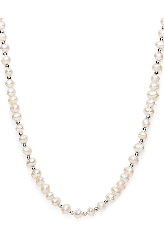 Halskette, »darlin's beat basic pearl, 015473«, Jewels by Leonardo in silberfarben/weiß