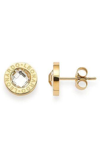 LEONARDO Pora auskarai »015568 gold/klar Matrix...