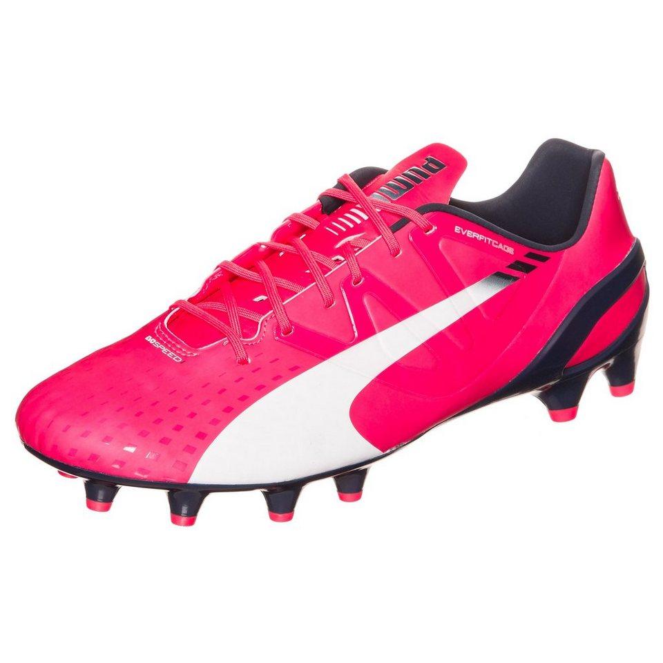 PUMA evoSPEED 1.3 FG Fußballschuh Herren in pink / weiß